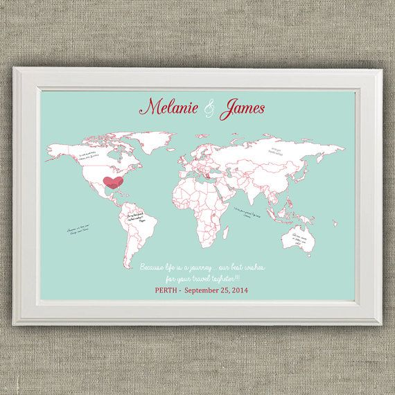 Travel theme wedding guest book alternative world map travel theme wedding guest book world map by redlinecs on etsy gumiabroncs Image collections