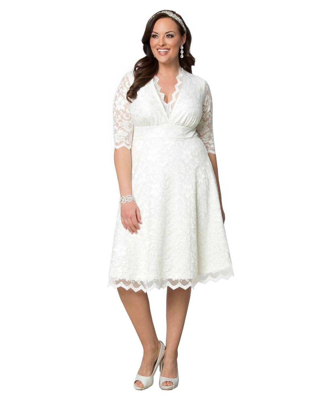 f2e7403aa87 1940s Plus Size Dresses Kiyonna Womens Plus Size Wedding Belle Dress   248.00 AT vintagedancer.com