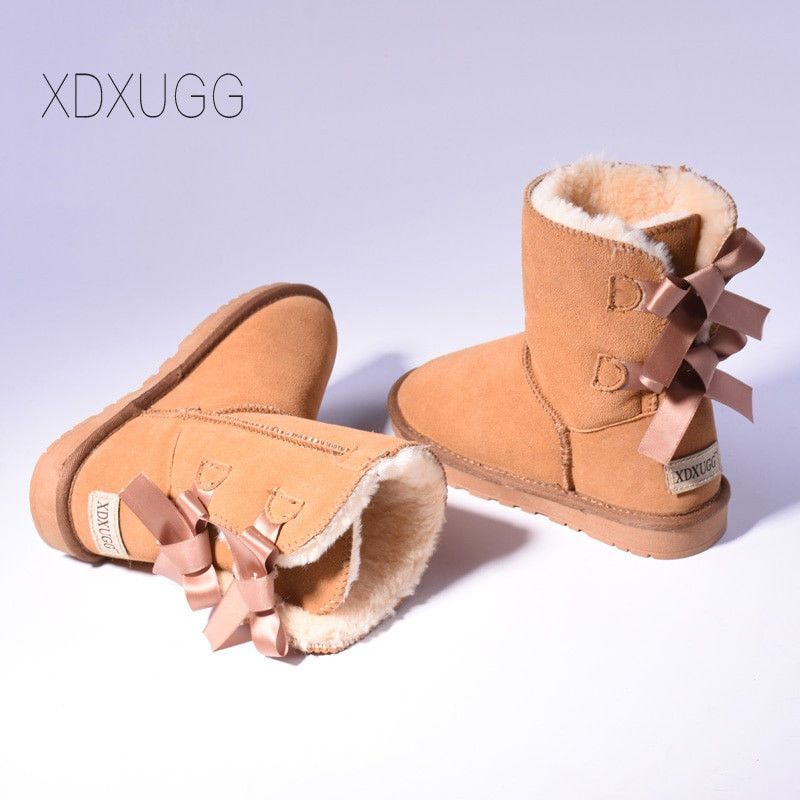 d5ca99d854a XDX-UGG Australia Women's Mini Bailey Bow Boots II Chestnut Size 4 ...