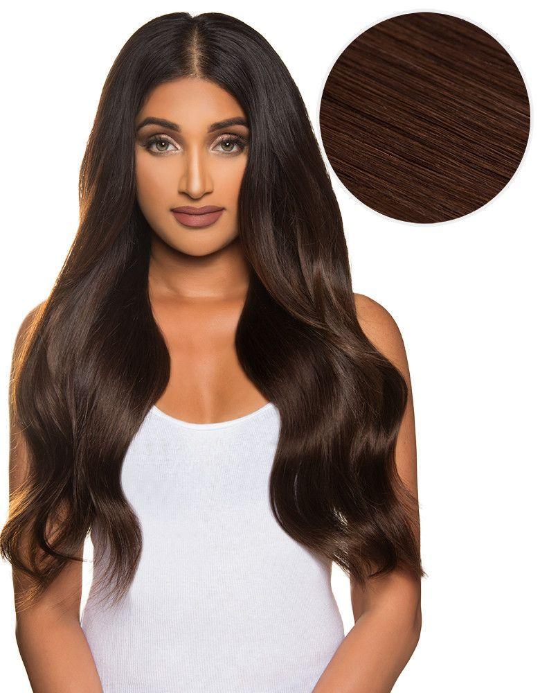 Bambina 160g 20 Dark Brown Hair Extensions 2 Clip In Hair