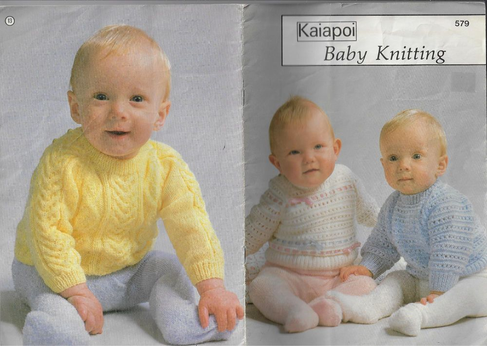 Baby Knitting By Kaiapoi 579 Vintage Knitting Pattern Book Baby