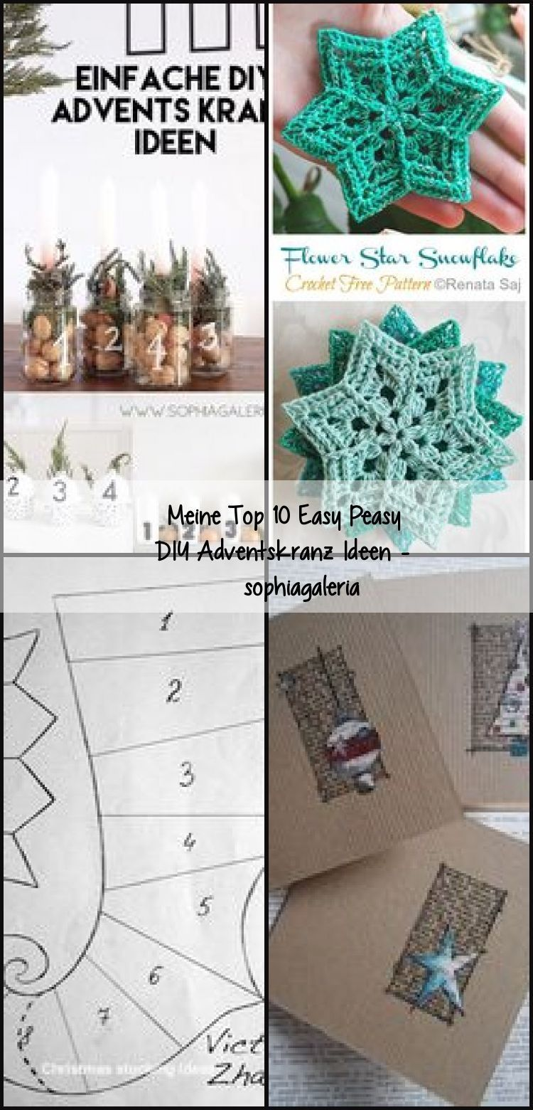 Meine 10 besten Ideen für einen einfachen DIY-Adventskranz – sophiagaleria, #ba…,  #advents…