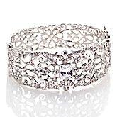 Fleur-de-Lis Hinged Bangle Bracelet