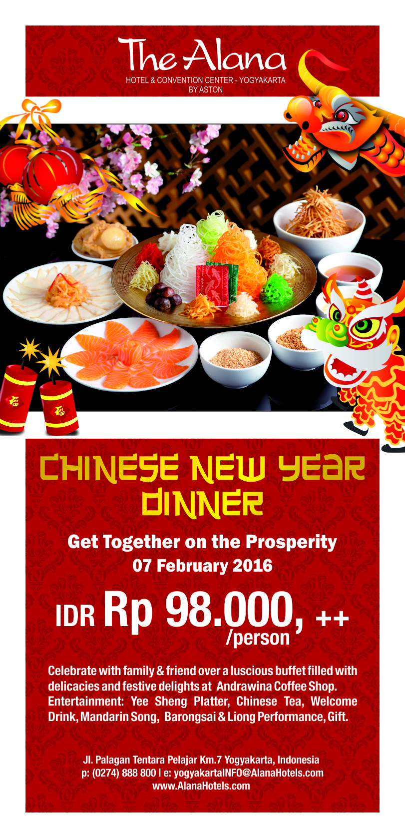 Chinese New Year Dinner At Rp 98 000 All You Can Eat On 7 February 2016