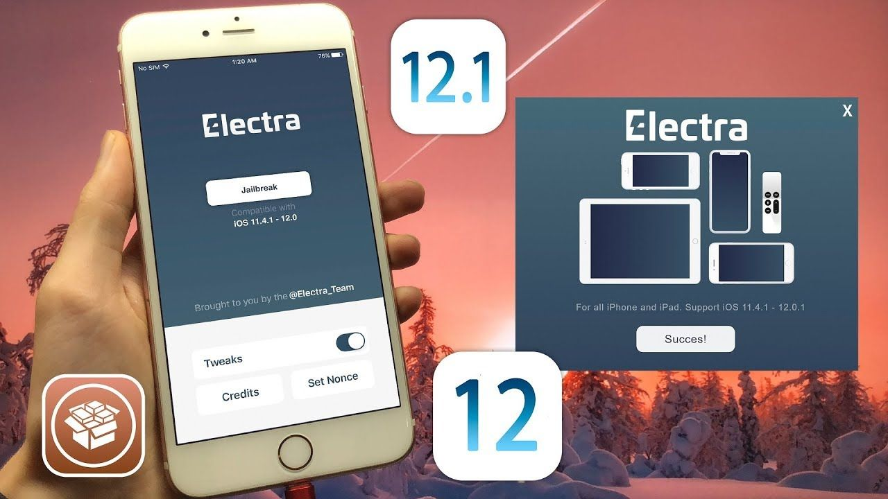 Electra RC2 Jailbreak iOS 12 1 - 12 0 1 - 11 4 1 For all