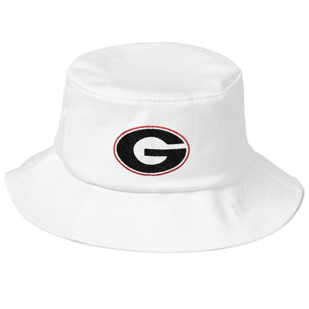 UGA Georgia Football Flexfit Old School Bucket Hat  bb42e1d9db7