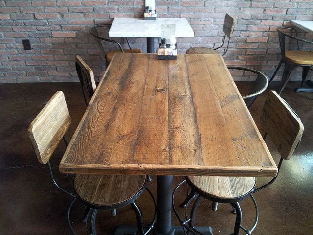 Amazing Restaurant Table Tops: Reclaimed Douglas Fir Restaurant Tabletops  Traditional Tabletop Los Angeles