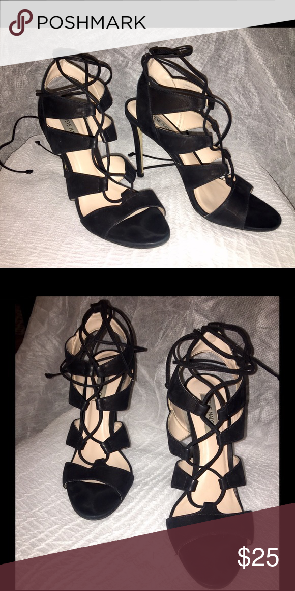 "56bcc23ea08d Steve Madden Gladiator style heels 4"" Gladiator style heels very cute and I  would love them to go to a new home where they can be enjoyed. Heel is 4  inches."