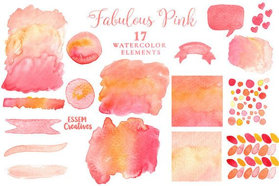 Pink Watercolor Splash Clipart Watercolour Texture Background