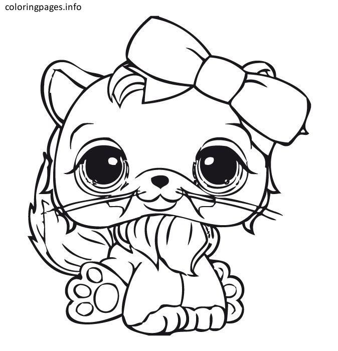 littlest pet shop cat coloring pages | Coloring Pages | Pinterest