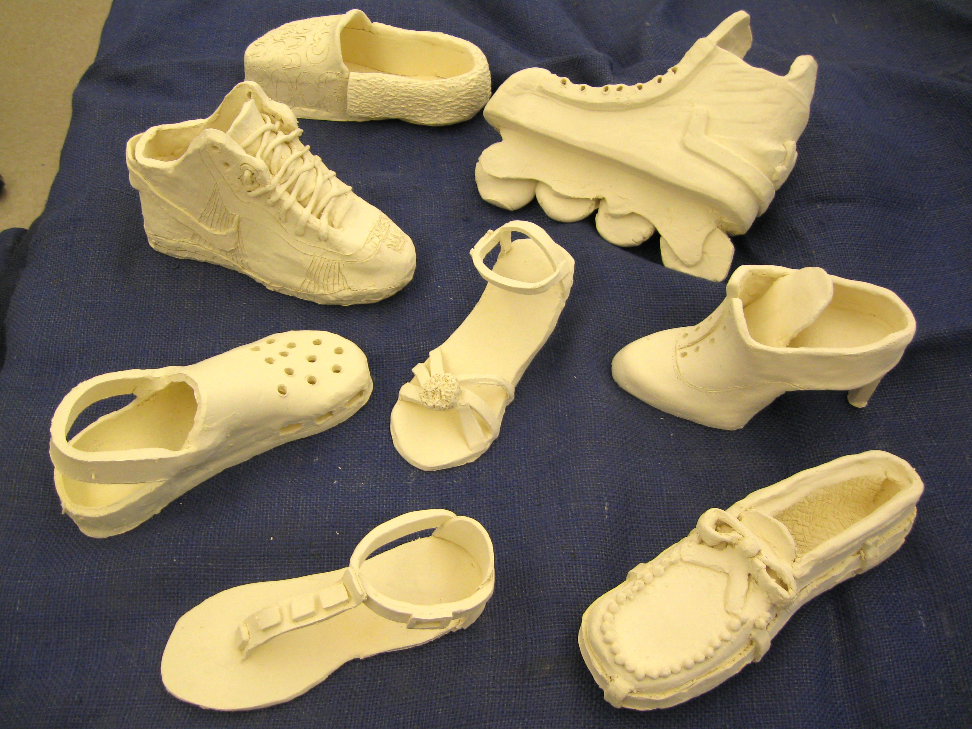 Ceramic Shoes (bisque) ~Smith Middle School, Miss Murphy 4th grade ...