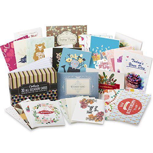 Cortesia All Occasion Premium Greeting Cards Assortment 30 Unique Designs Box Set Incl Envelopes Birthd Greeting Card Collection Greeting Cards Best Cookbooks