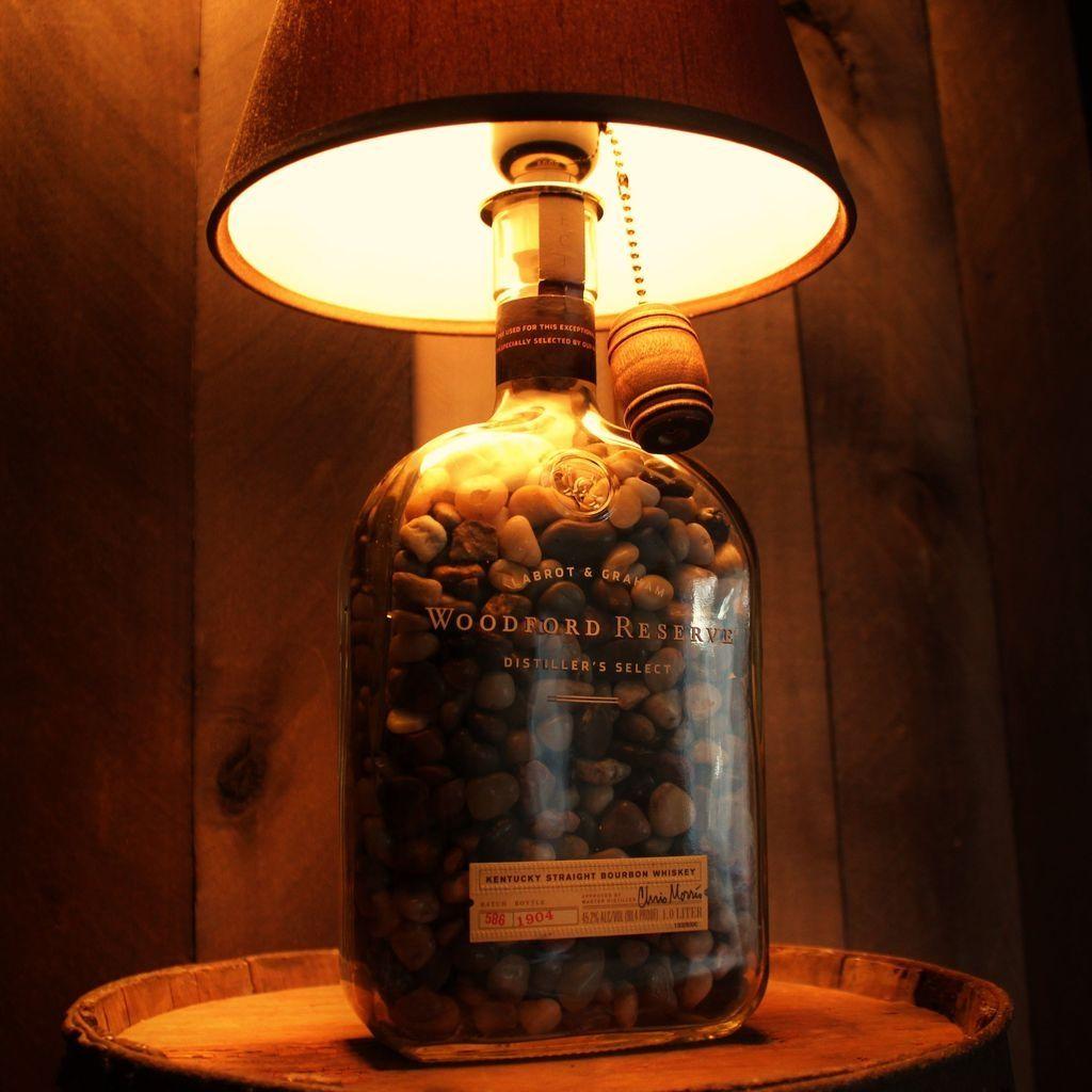30 Wonderful Diy Bottle Lamp Design Ideas You Must Know Bottle Lamp Liquor Bottle Lamp Bottle Lights