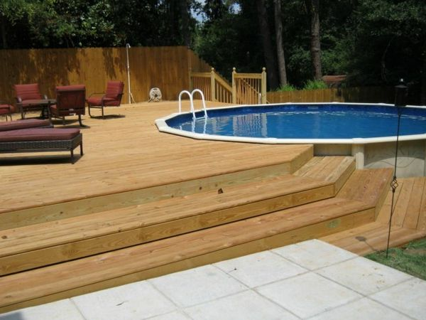 petite piscine hors sol terrasse en bois originale. Black Bedroom Furniture Sets. Home Design Ideas