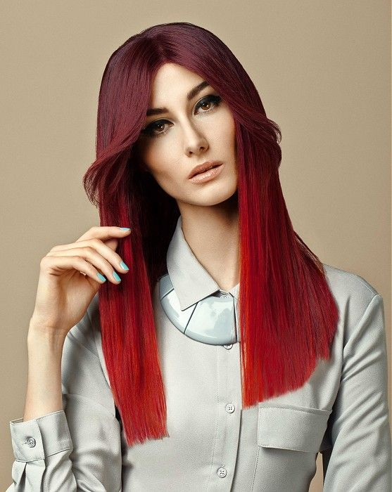 Tchip Coiffure Long Red Straight Hair Styles Ukhairdressers Com Hair Styles Uk Hairstyles Straight Red Hair