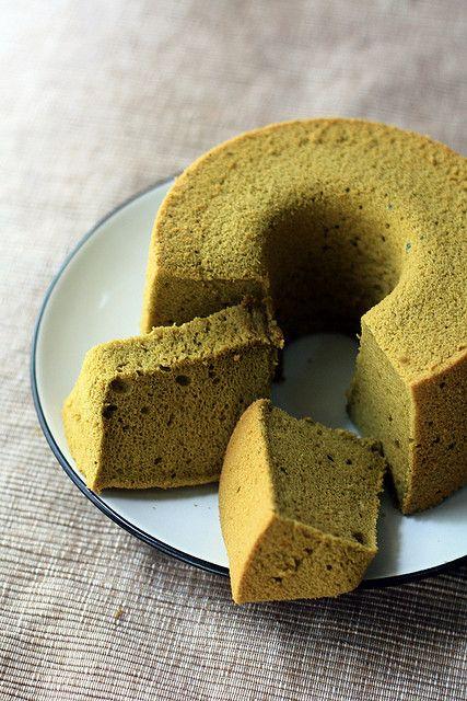 163 - Matcha Chiffon Cake by wenday :D, via Flickr
