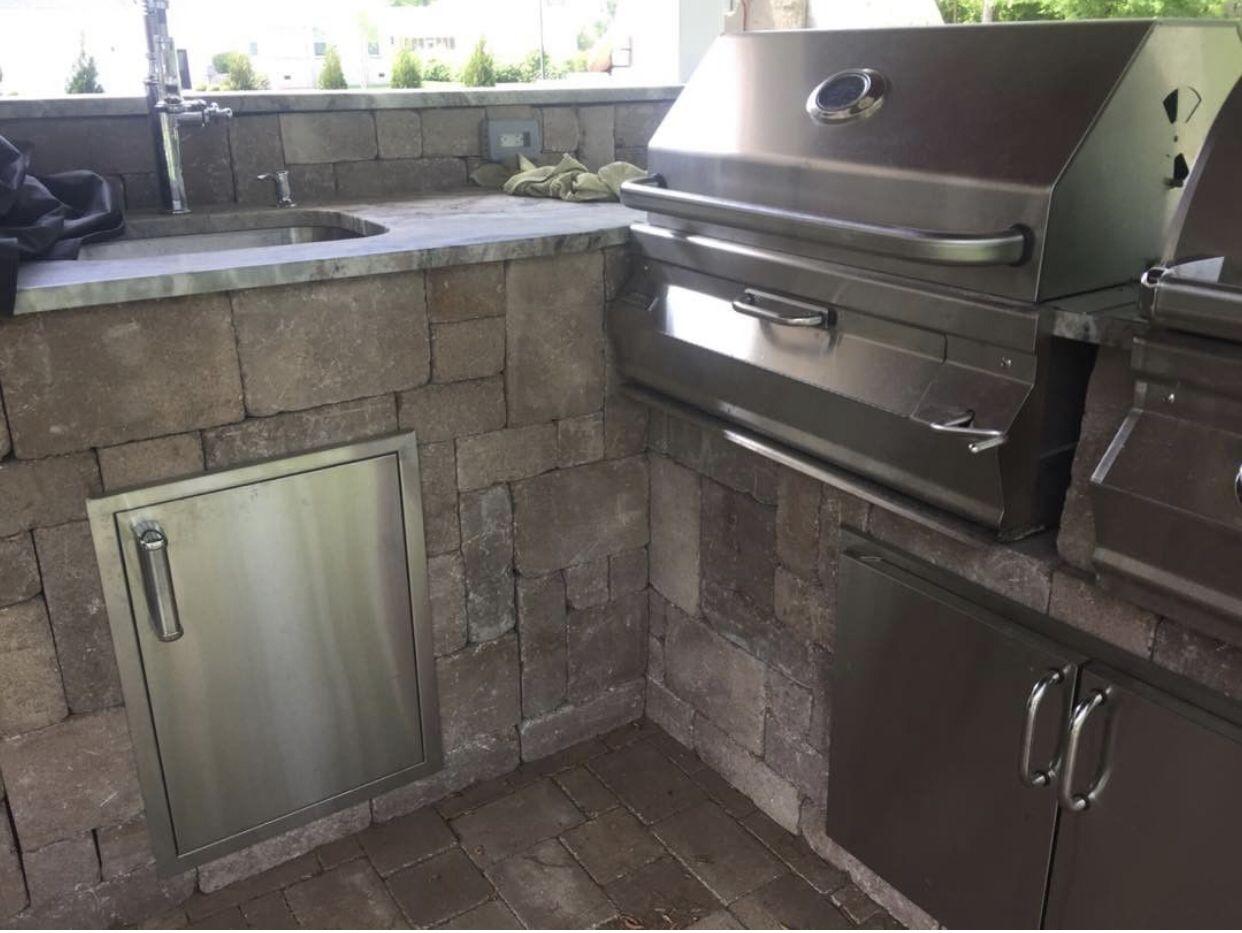 Grill Outdoorkitchen Homedecor Outdoorliving Patio Pavers Outdoor Kitchen Home Decor Kitchen