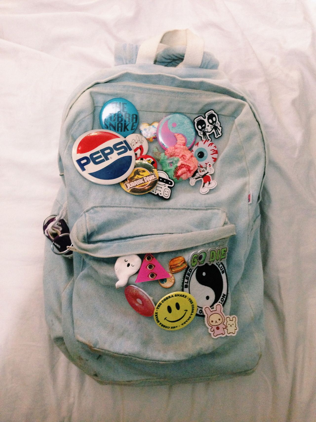 bdbf4bbfe Backpack With Patches, Backpack With Pins, Backpack For Teens, Pin And  Patches,