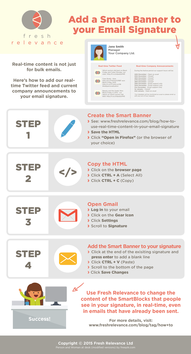 How To Add A Smart Banner To Your Email Signature Blog Email Signatures Email Signature Templates Signature Ideas
