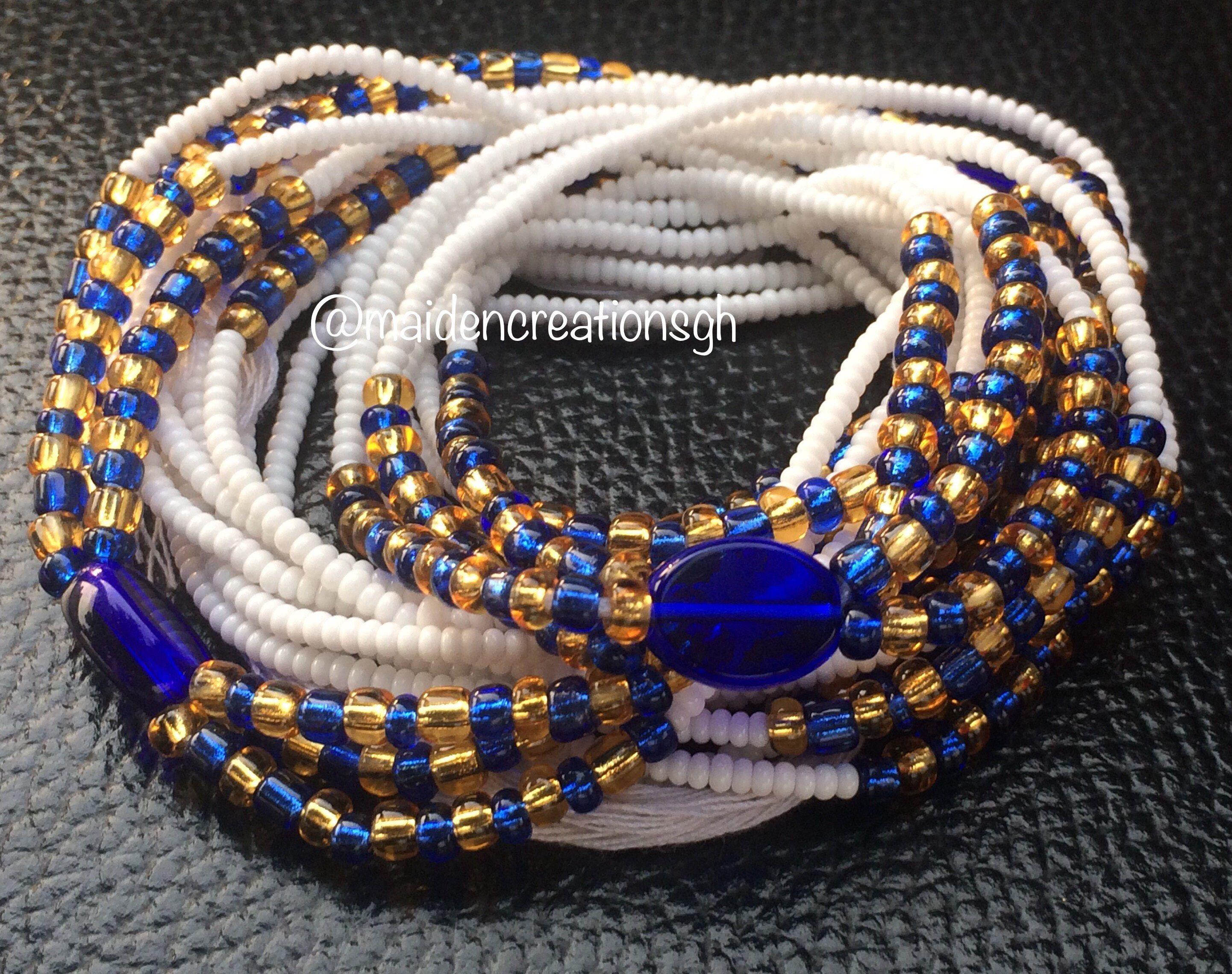 Gold royal waist beads