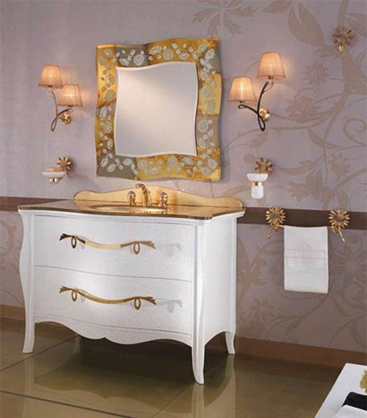 Gold bathroom vanity home vanity sinks luxury bathroom for Bathroom furniture ideas
