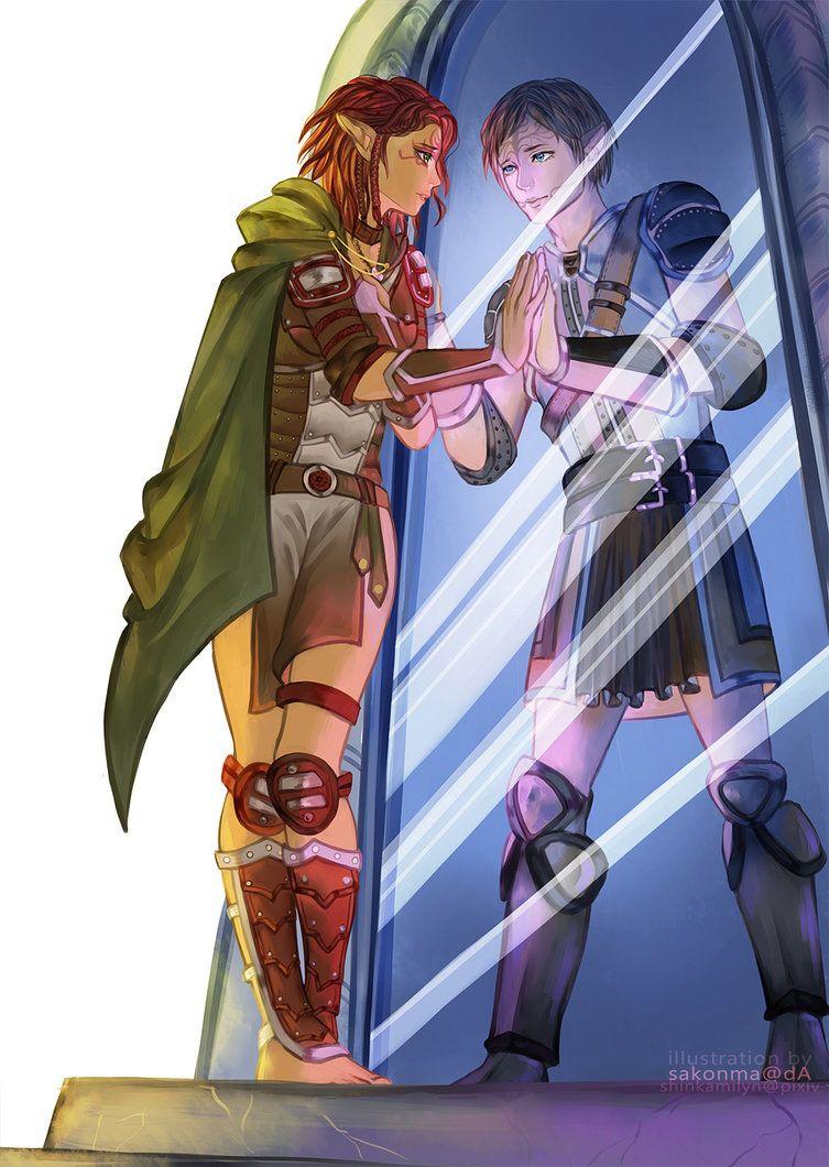 Dalish elf and Tamlen [[RIGHT IN THE FEELS]] DA1 origins   Dragon