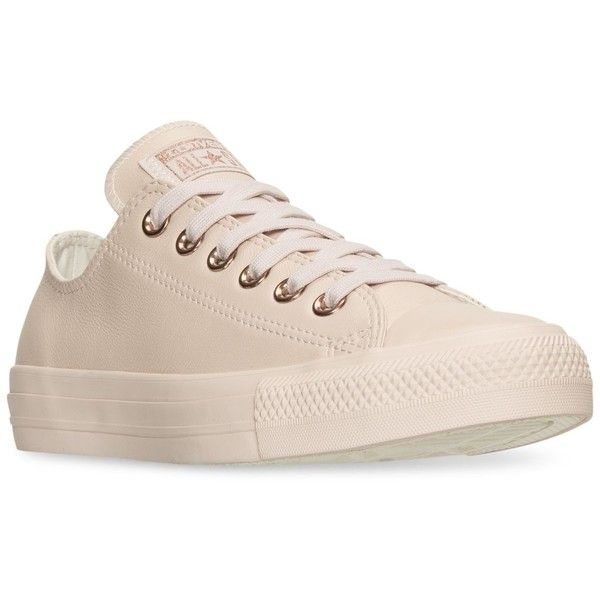 Converse Women's Chuck Taylor Pastel Leather Ox Casual Sneakers from...  ($70)