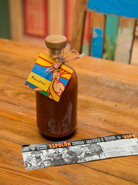 Cinco de Mayo Craft: Salsa Serving Bottles Made From Tequila Bottles >> http://blog.diynetwork.com/maderemade/2013/05/03/diy-salsa-bottles/?soc=pinterest