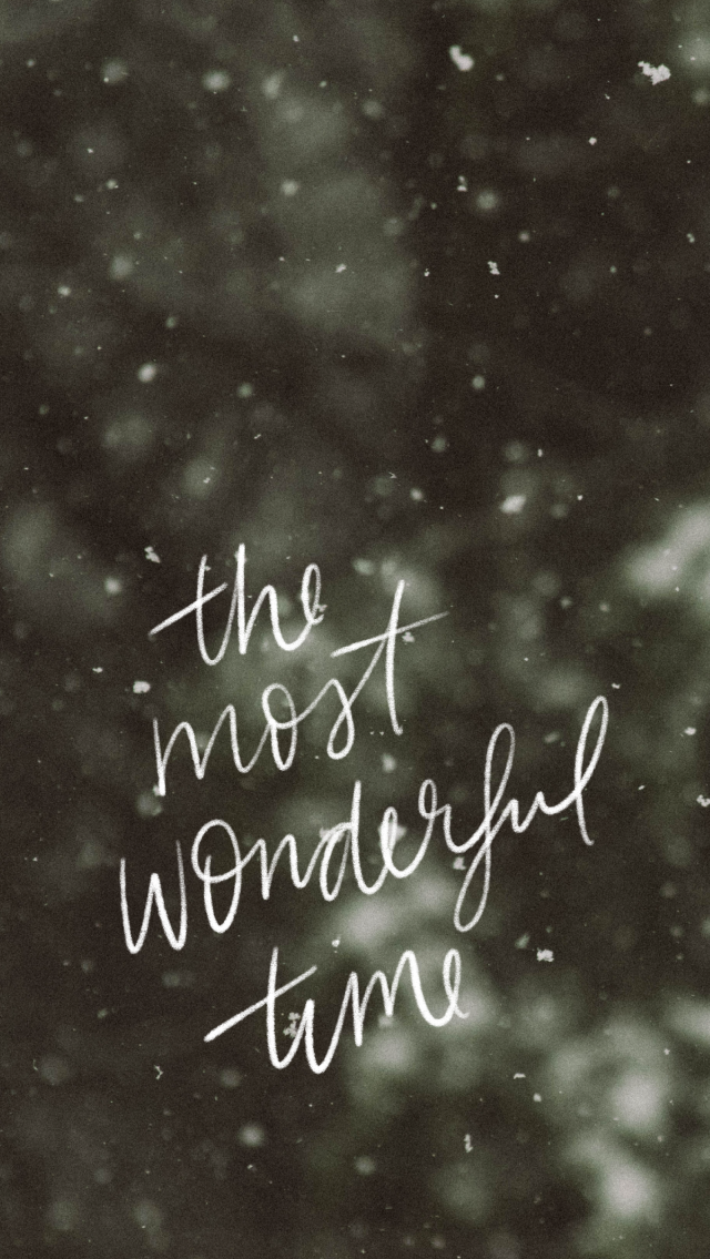 Hand Lettered Winter Quote, It's The Most Wonderful Time