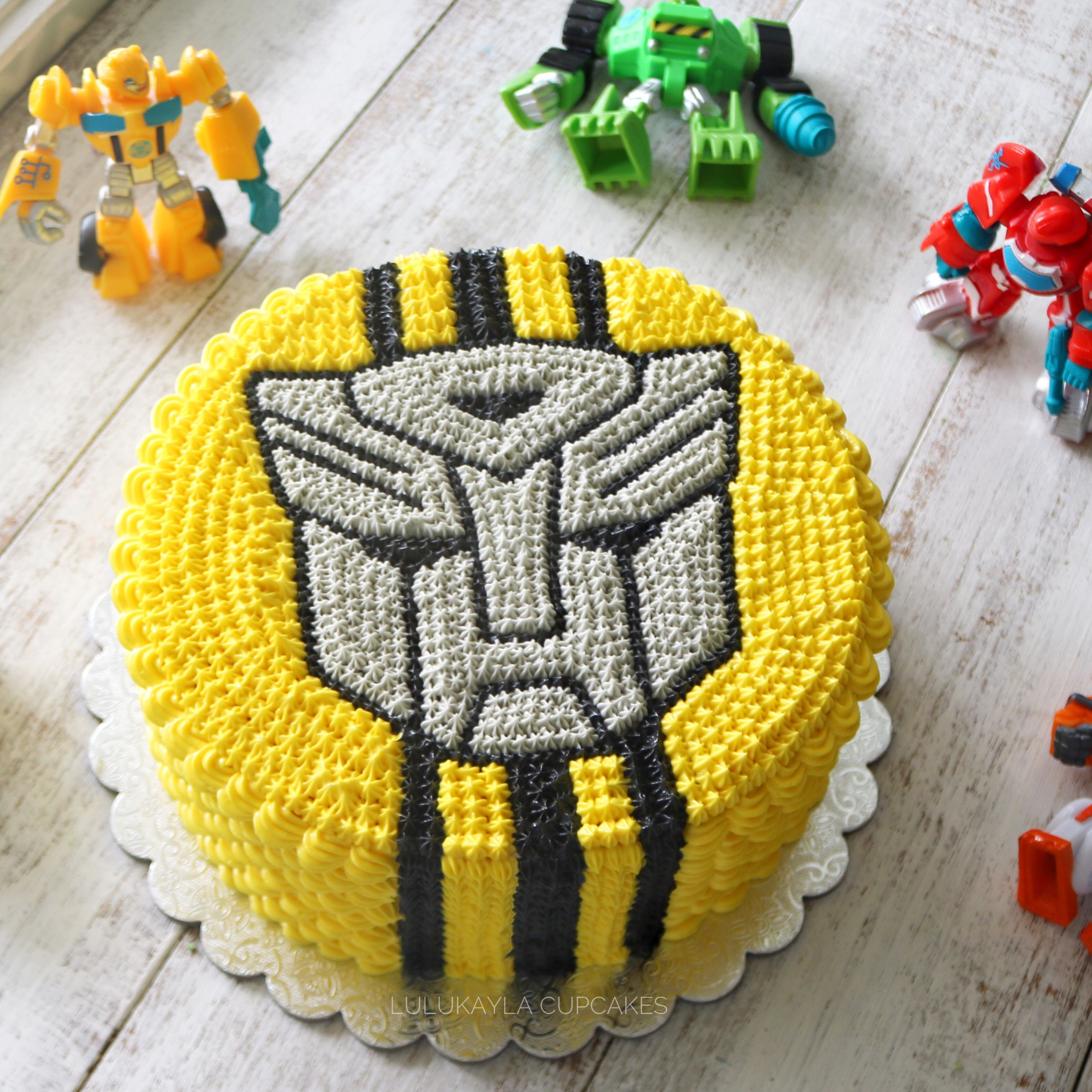Transformer Bumble Bee Buttercream Cake With Images