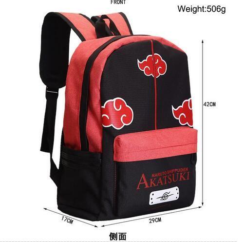 Naruto Akatsuki Sasuke Itachi Cosplay Backpack Laptop Travel School Bag Rucksack