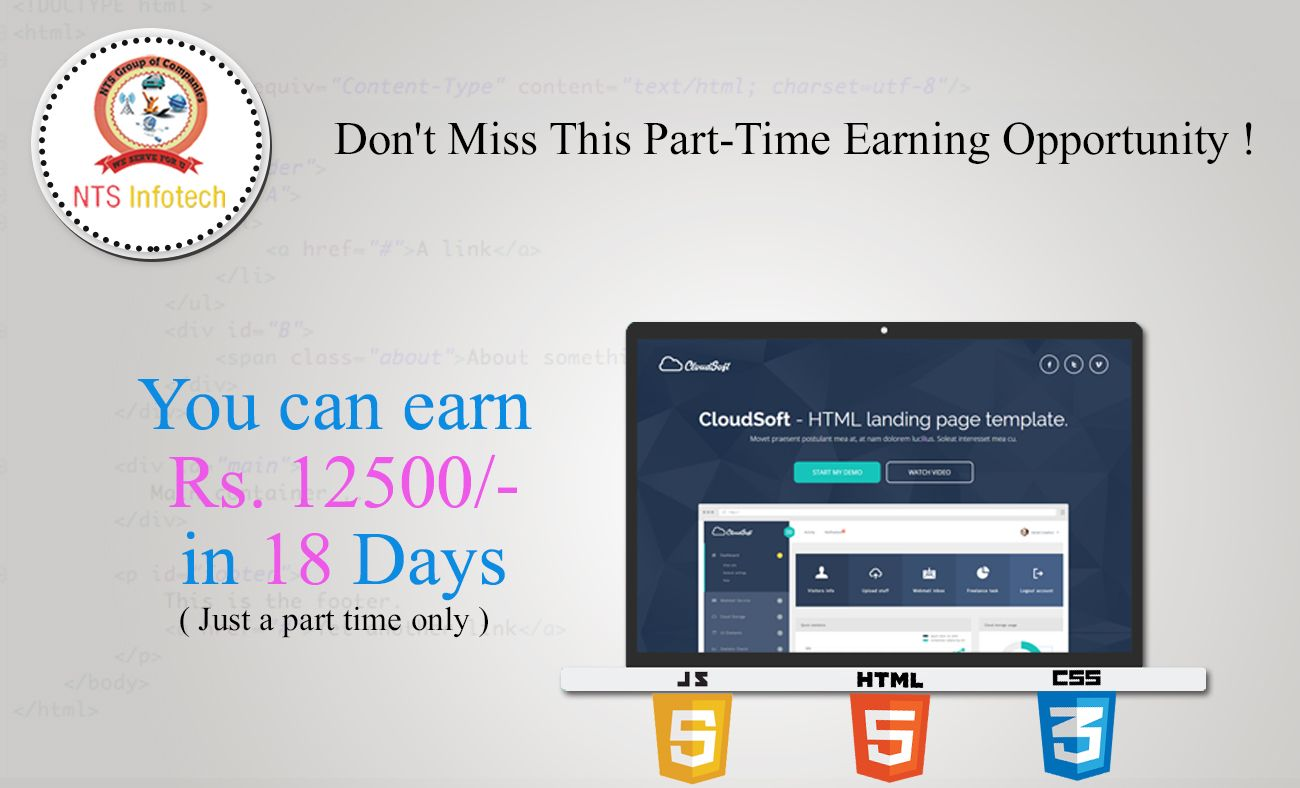 NTS Infotech Gives You Oppertunity to Earn 12500/ in Just