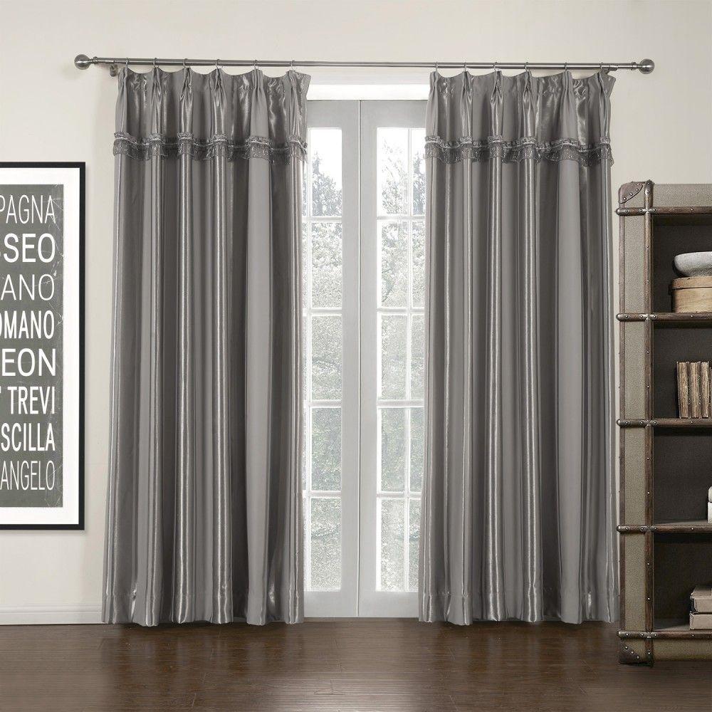 Grey Stripe Mordern Room Darkening Curtain Curtains Stripe