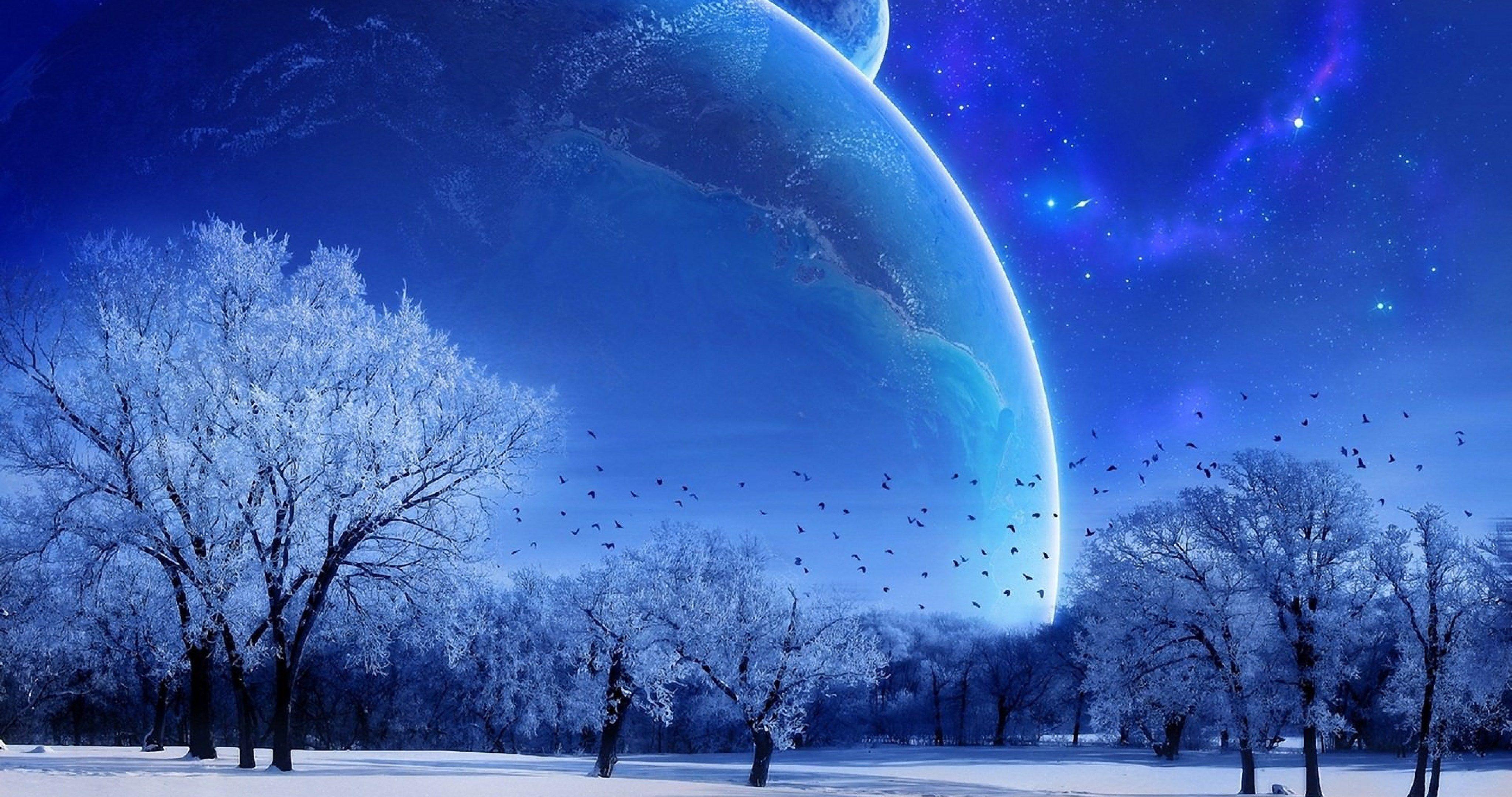 blue moon nature 4k ultra hd wallpaper wallpaper