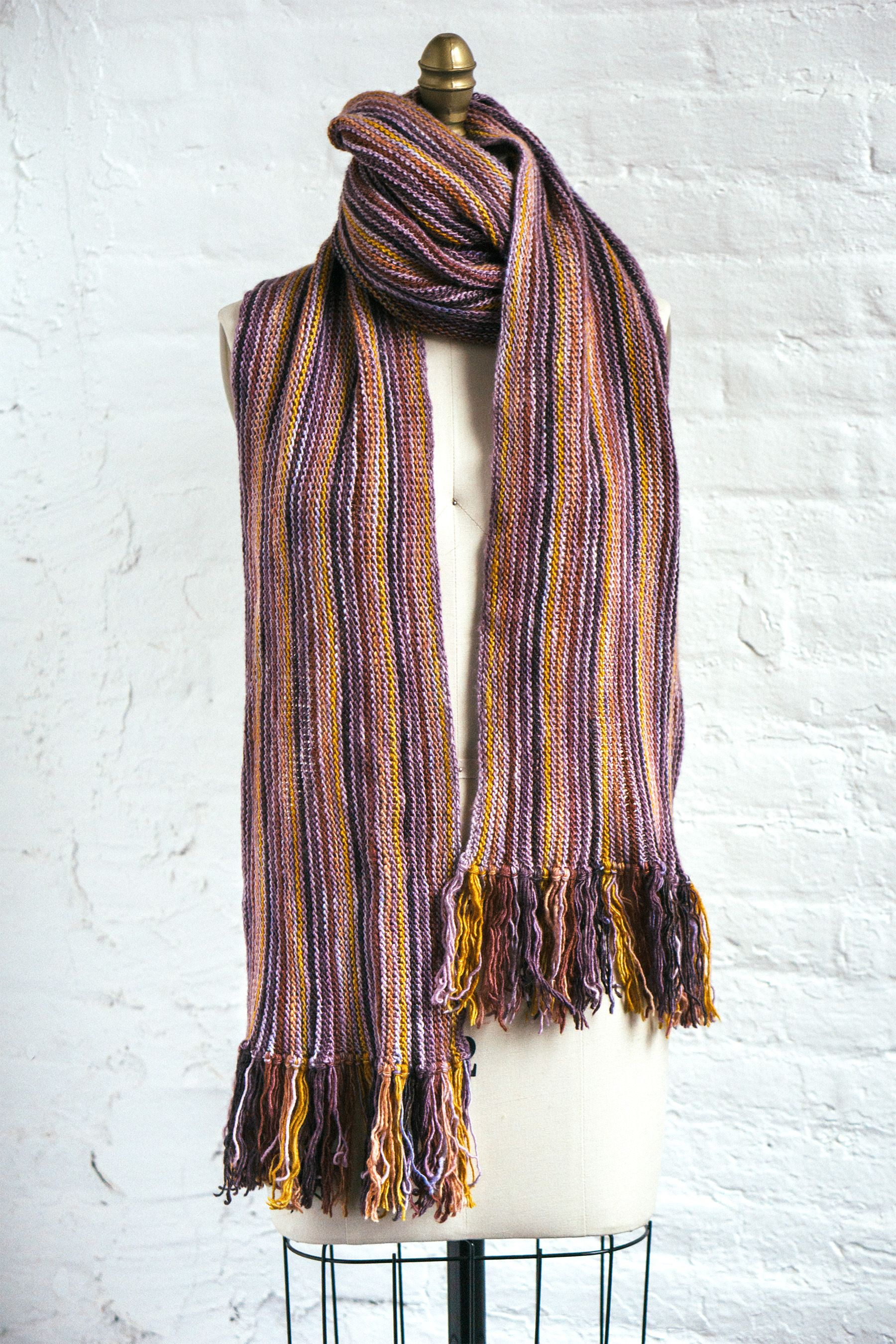 Sencilla (F122) (With images) | Easy scarf knitting ...