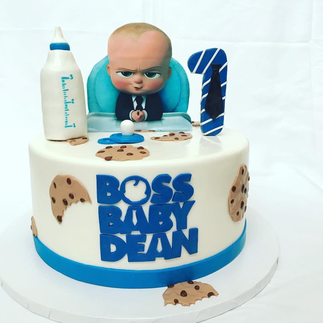 Seyda S Cakes On Instagram Happy Birthday Boss Baby Dean Bossbabycak Baby Birthday Party Cake Happy Birthday Boss Baby Boy Birthday Cake