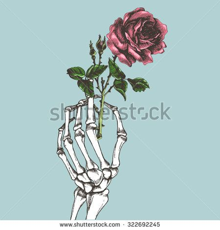 Skeleton Hand Holding Flower Google Zoeken Hands Holding Flowers Flower Drawing Skeleton Flower