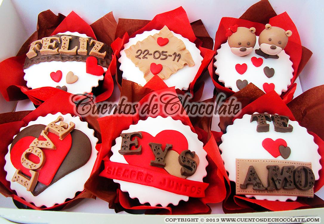 Cupcakes X6 Personalizados Tema Aniversario Ositos Cabecitas En
