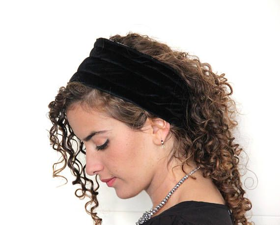 Black Volume & Non-Slip Headband Great under Headband Tichel, Head Scarves, Wigs, Head Coverings, Je #tieheadscarves