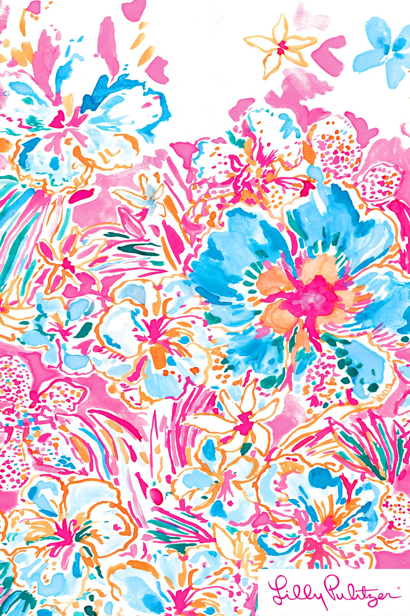 Resort Escape Floral - Lilly Pulitzer x Starbucks 2017 | Wallpapers ...