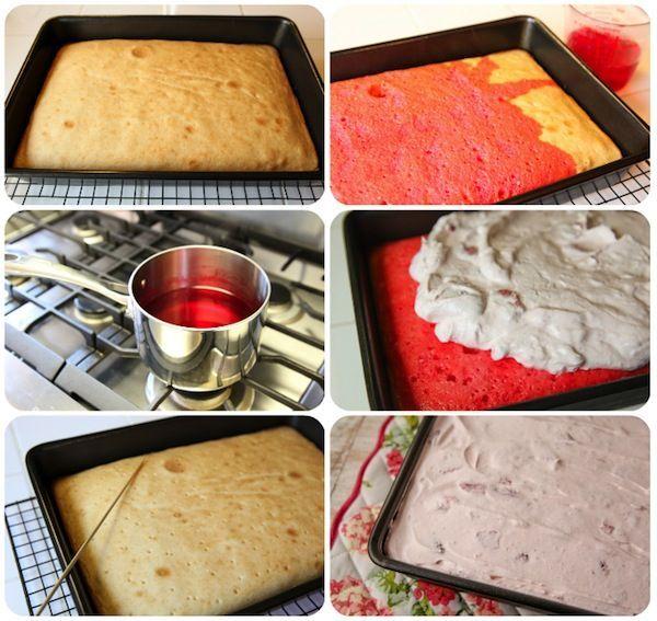 "How to Make:  ""Strawberry Poke Cake"""