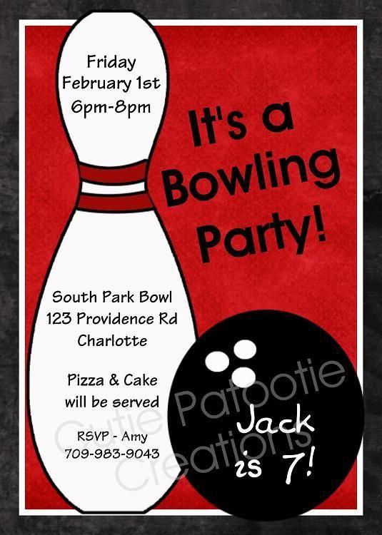Invite  Dakota    Bowling Party Bowling Party