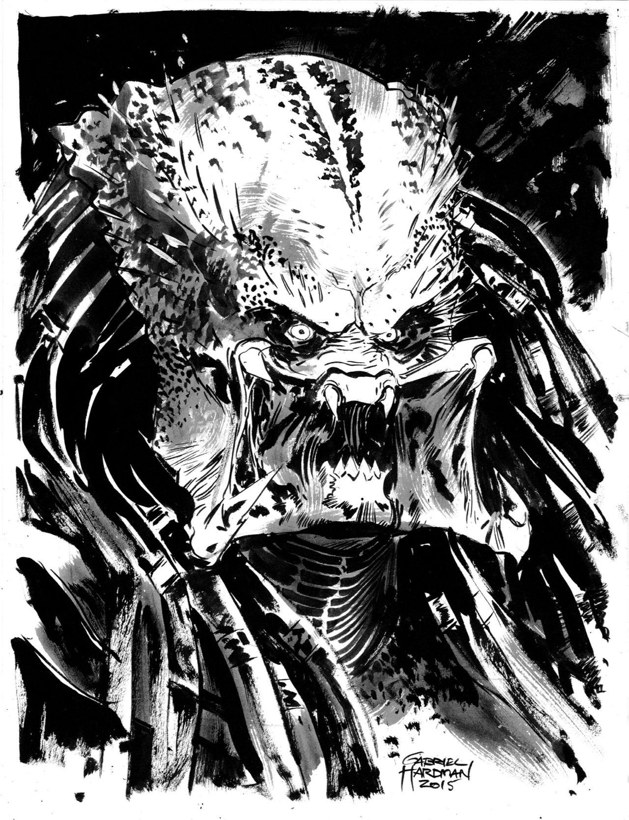 Predator By Gabriel Hardman Predator Coloring Pages In 2018