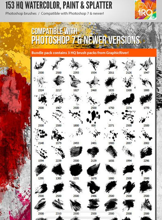 A Dose For Designers Of Splatter Paint Brushes Tutoriales