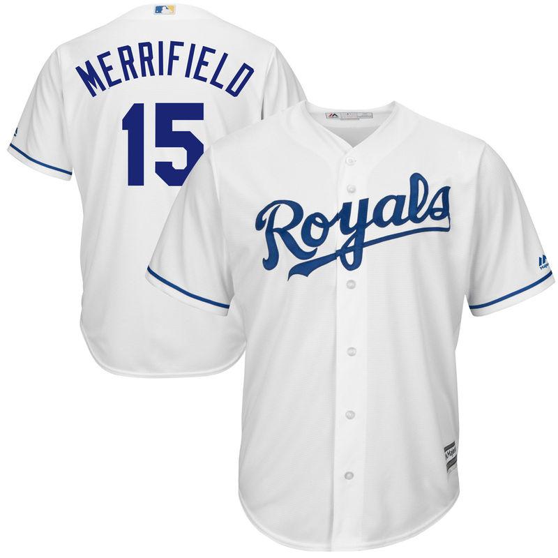pretty nice 24ff3 4d580 Whit Merrifield Kansas City Royals Majestic Home Cool Base ...