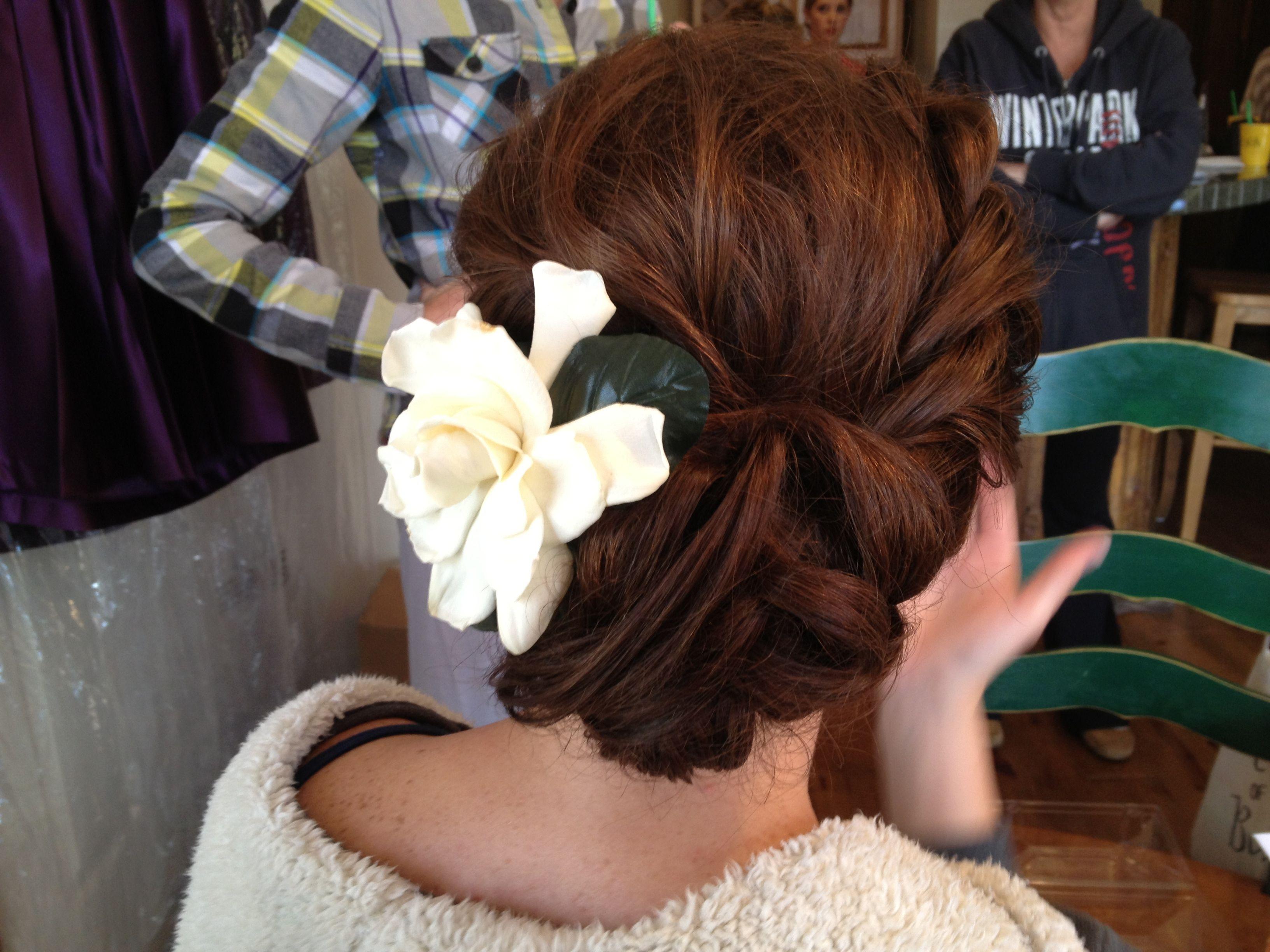 bride hairstyle rope braid twist #bride updo #wedding