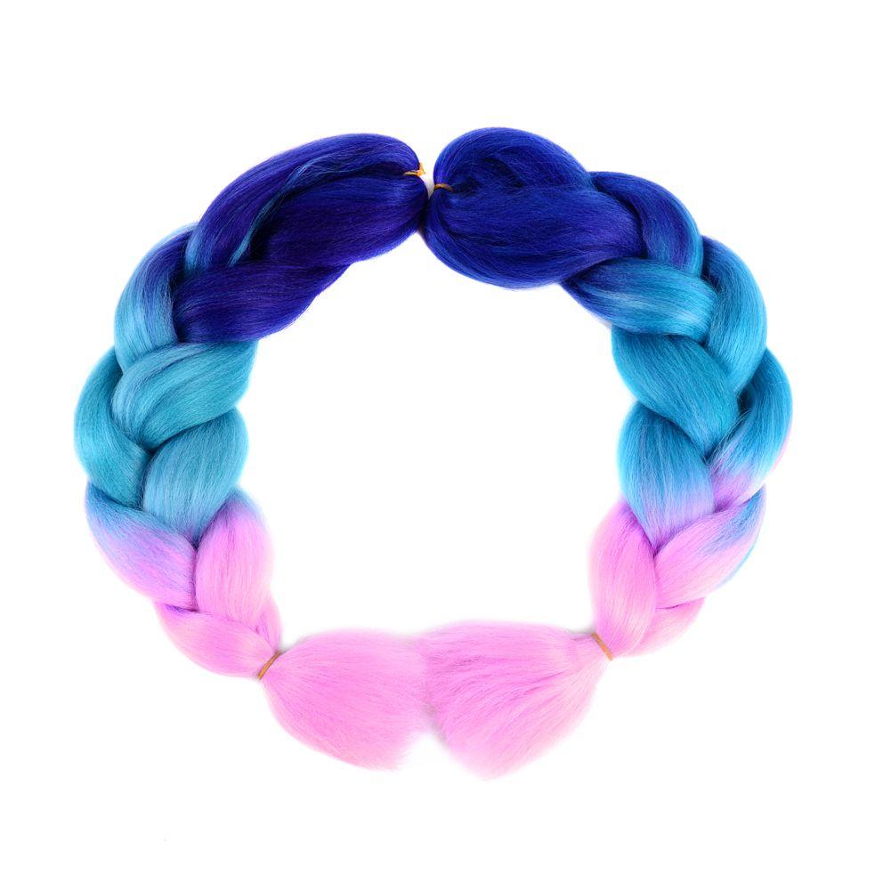d0b8e428864f Synthetic Braiding Hair (Purple-Lake Blue-Light Blue)