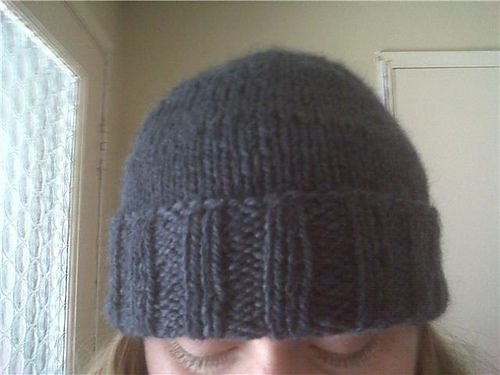 One Size Fits All Beanie Stocking stuffer knitting downloadable pattern