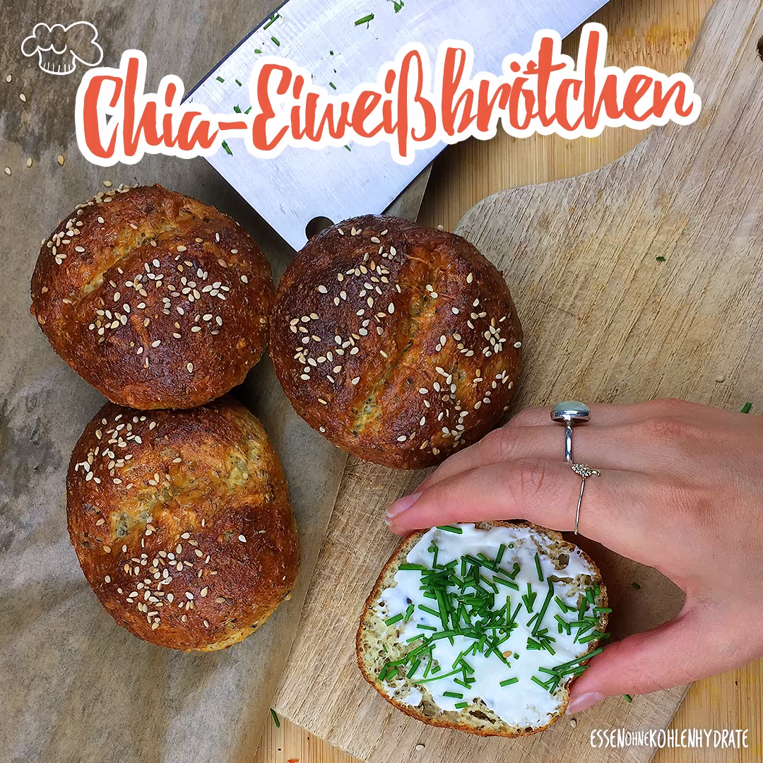 Photo of Low-Carb Chia Eiweißbrötchen