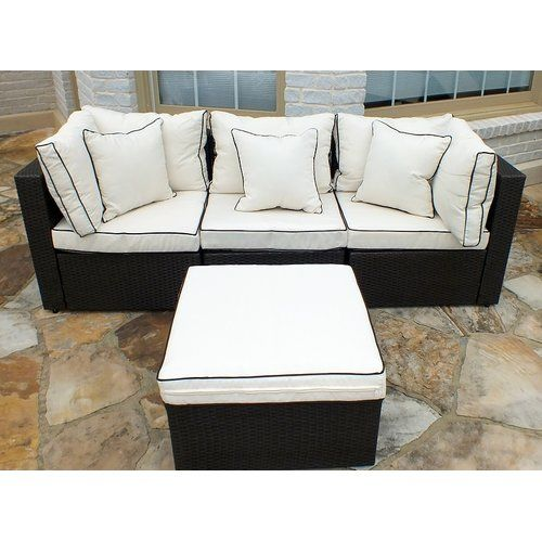 Burruss 4 Piece Patio Sectional With Cushions 155 Cbl